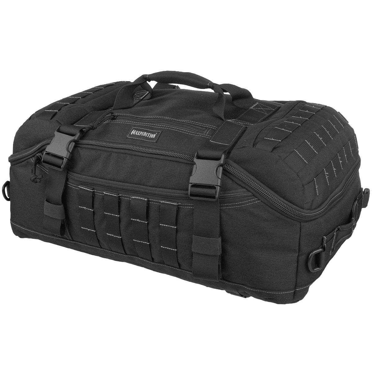e914f502d8d5 Details about Maxpedition Fliegerduffel Adventure Bag Military Shoulder  Strap Pack MOLLE Black