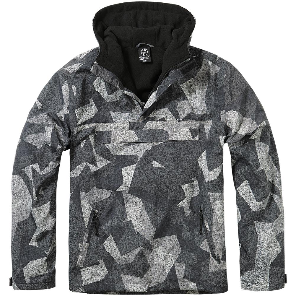 Night Veste Anorak Militaire Windbreaker Camo Digital Brandit Hooded Hommes IXYTBz