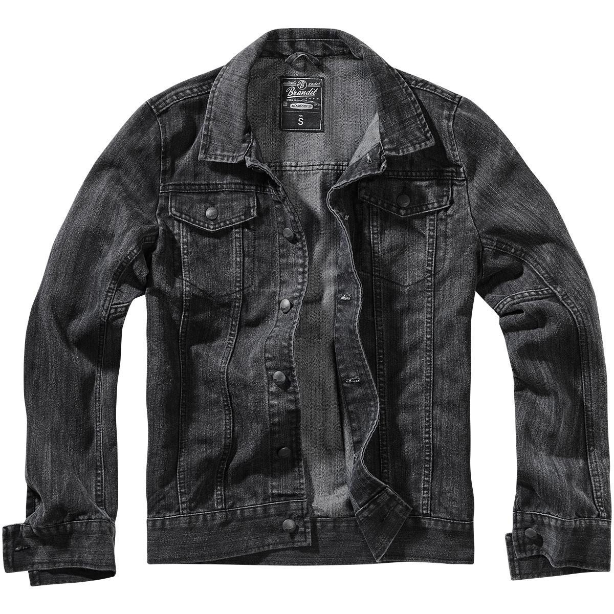 Brandit Denim Jacket Classic Mens Straight Cut Vintage ...