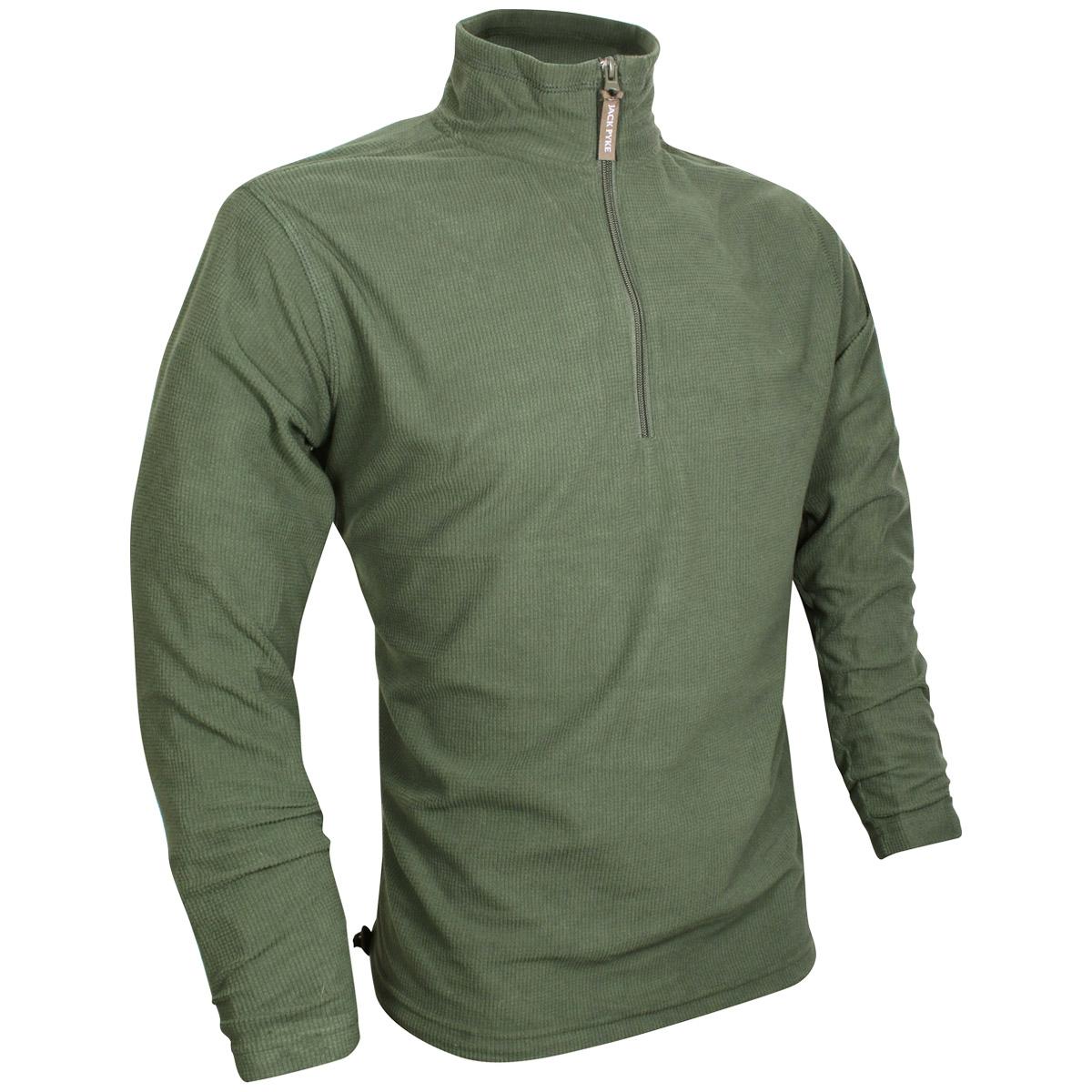 Jack pyke lightweight fleece top polar jacket mens hiking for Lightweight fishing pants