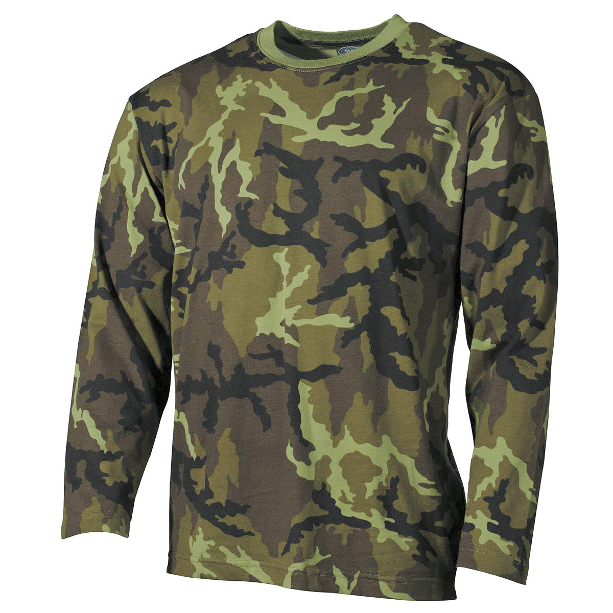 mfh lang rmliges herren jagd armee reisen trekking t shirt czech woodland camo ebay. Black Bedroom Furniture Sets. Home Design Ideas