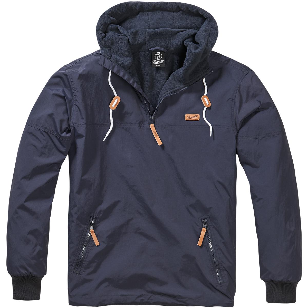 ce68a018a Sentinel Brandit Luke Windbreaker Warm Soft Shell Hooded Sailing Windproof  Jacket Navy
