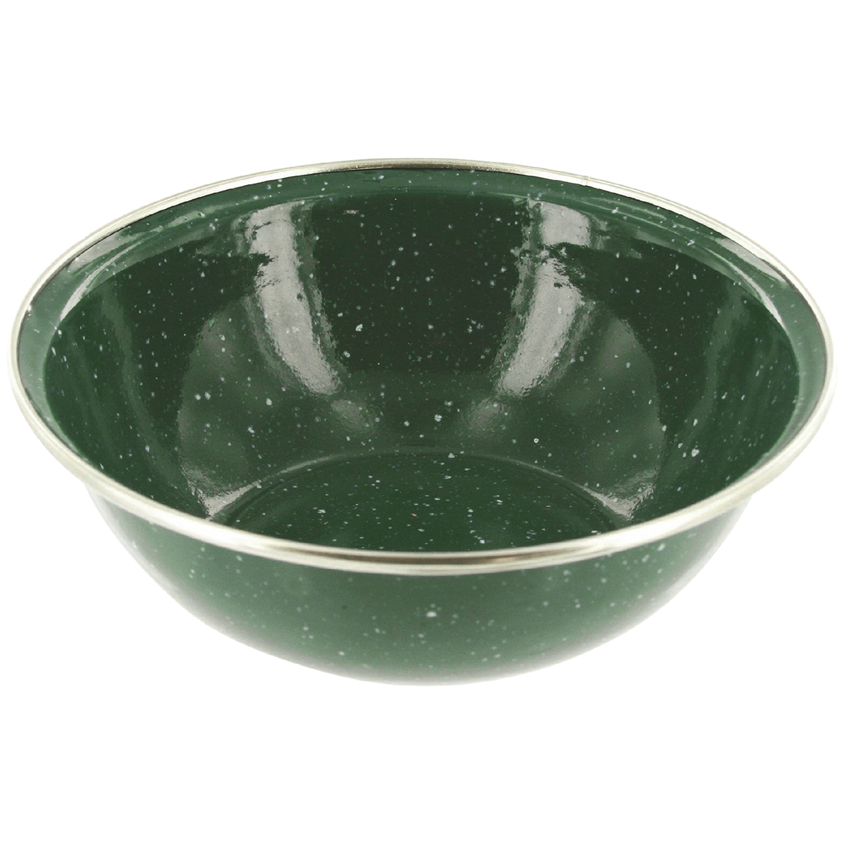Sentinel Highlander Deluxe Enamel Bowl Camping Metal Dinner Plate Army Travel Dish Green