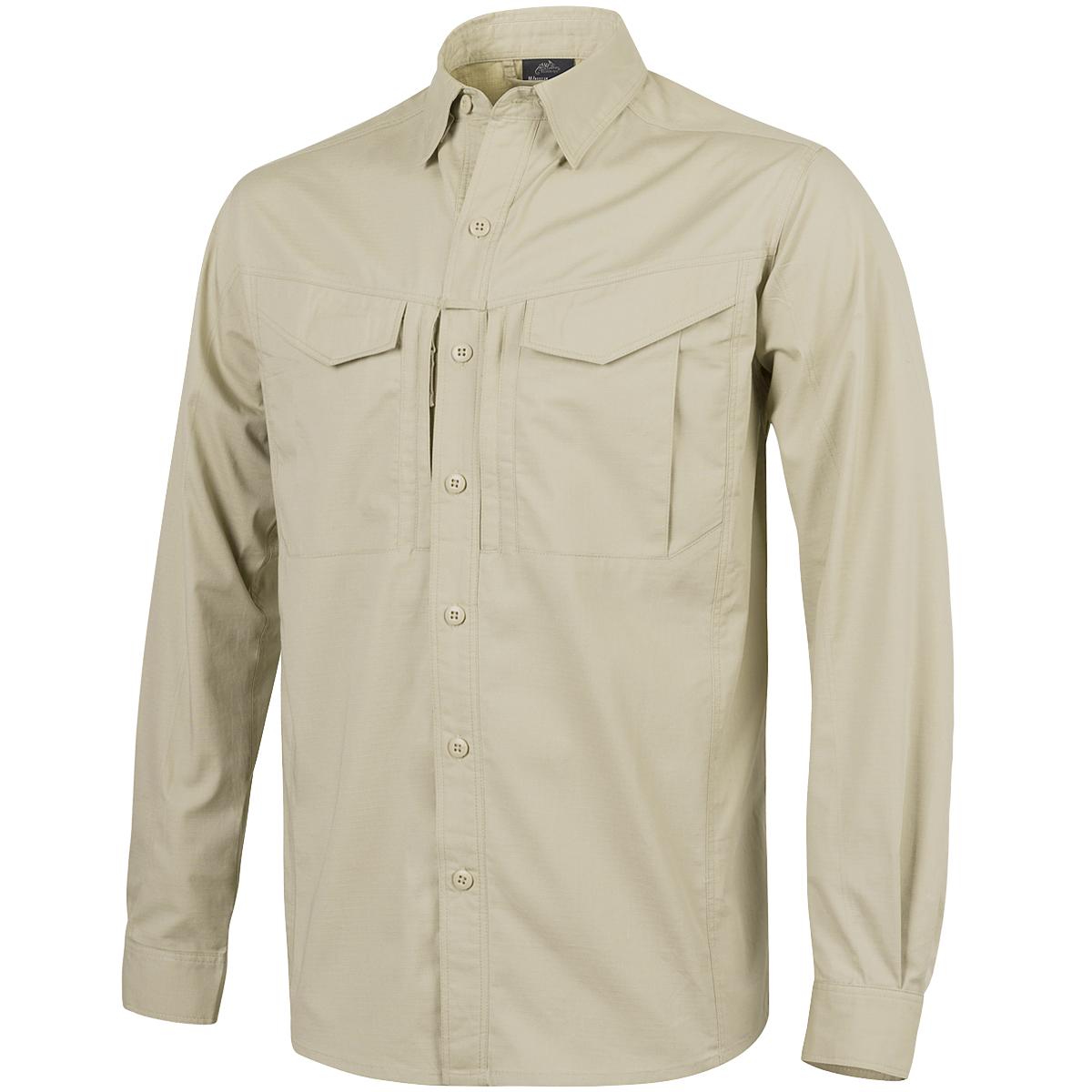 Helikon Defender Mk2 Tropical Mens Work Shirt Long Sleeve Hiking Castle Rock