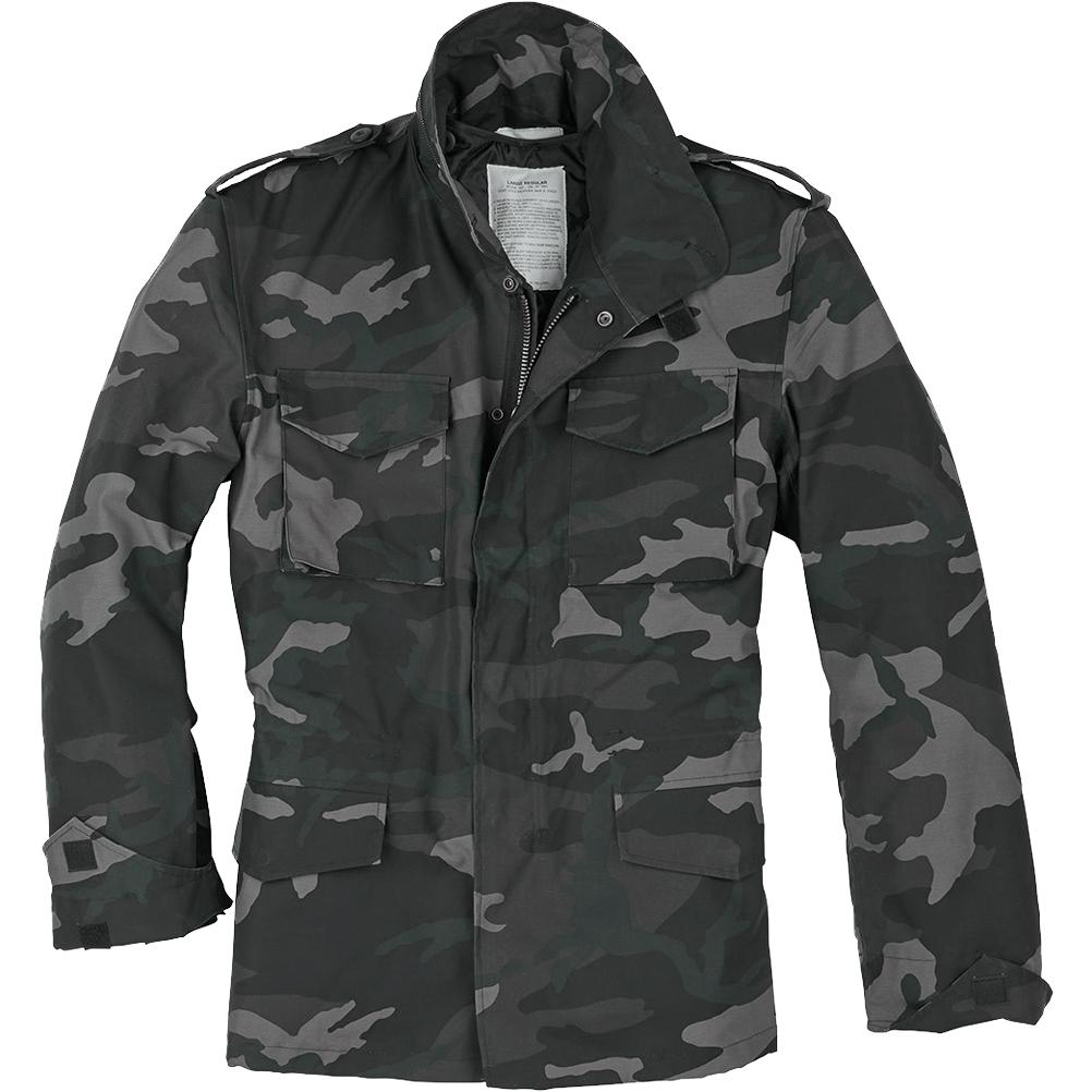 e245d6fff2193 Sentinel Surplus US Field Jacket M65 Military Army Tactical Coat Mens Parka Black  Camo