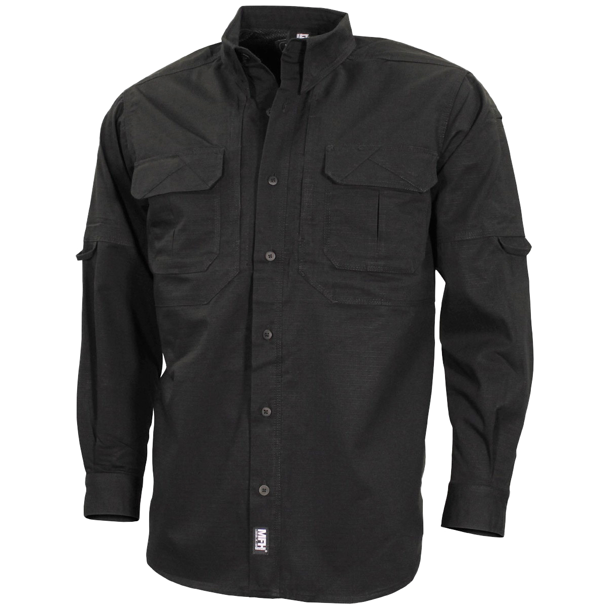 Details about MFH Strike Long Sleeve Mens Shirt Security Tactical Police  Outdoor Top Black 5e1aba8b870