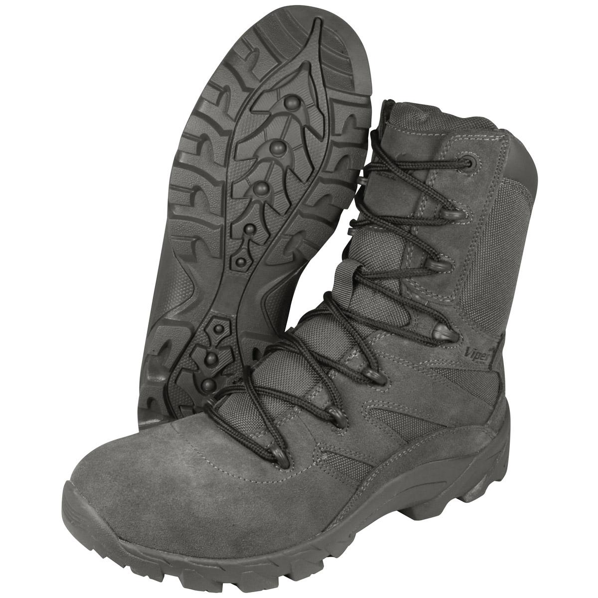 Viper Verdeckt Militär Herren Taktisch Stiefel Armee Militär Verdeckt Schuhwerk Titanium Grau 4d0142