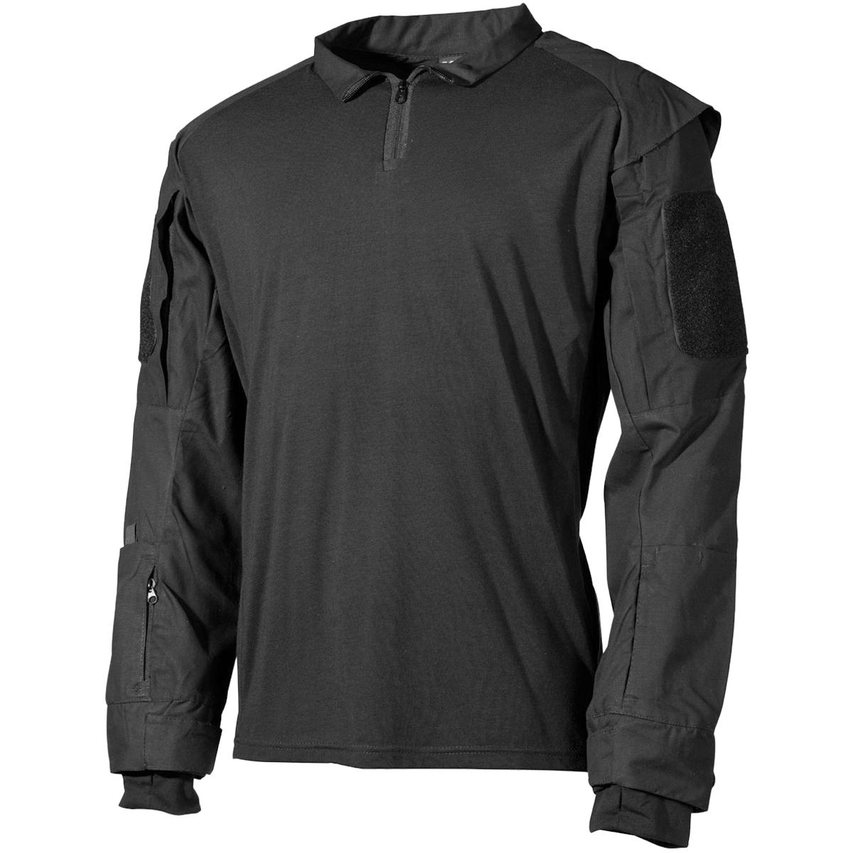 Details about MFH US Tactical Shirt Mens Combat Police Security Jacket  Ripstop Uniform Black 5b370b1d7a6