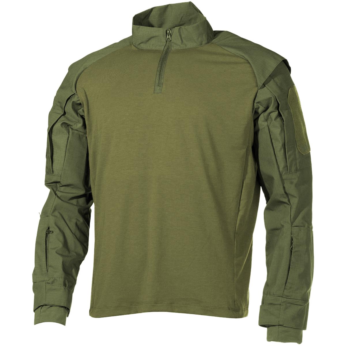 MFH-US-Chemise-Tactique-Hommes-Combat-Militaire-Chasse-UBACS-Top-Airsoft-OD-Vert