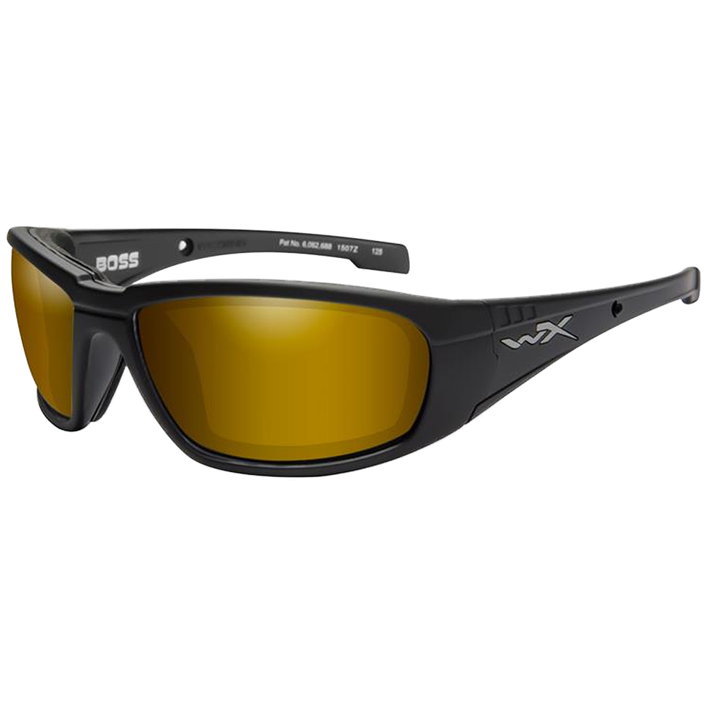 cf483957ac2 Details about Wiley X WX Boss Glasses Polarized Venice Gold Mirror Lens  Matte Black Frame