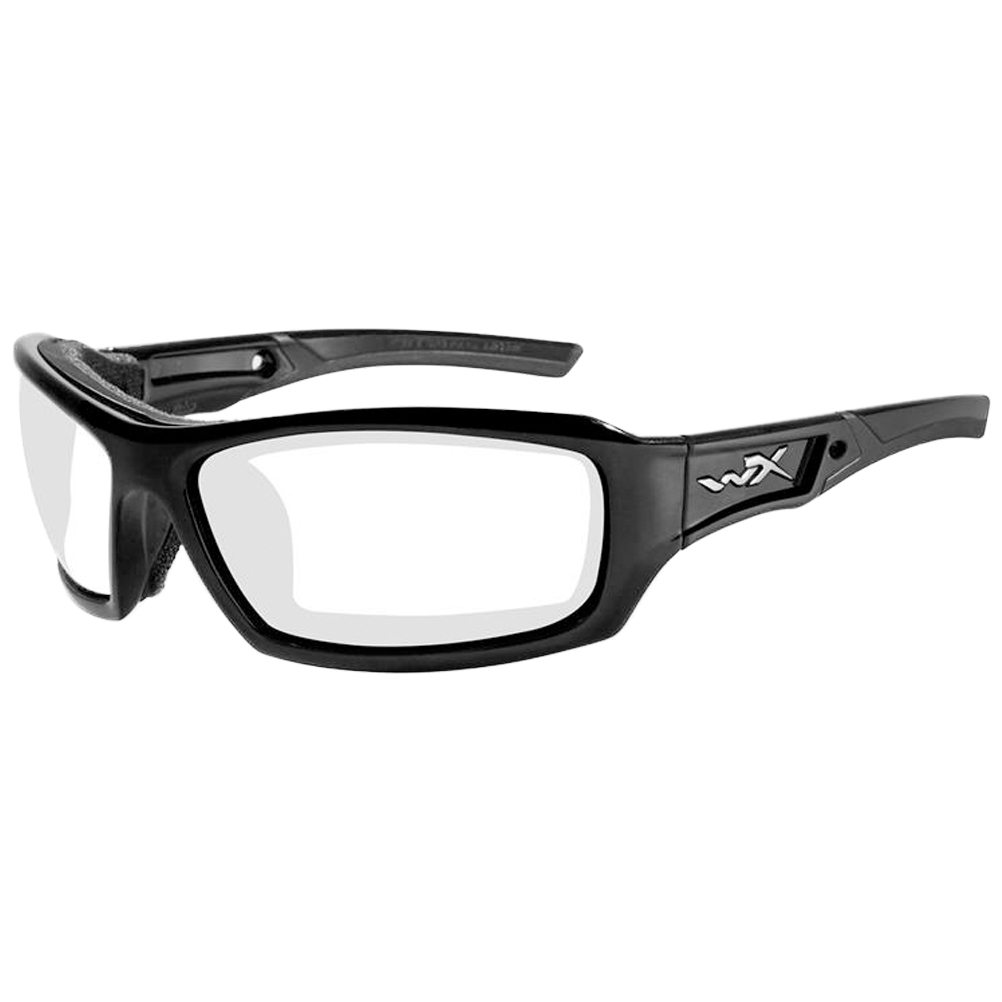 8db48ab8c00 Details about Wiley X WX Echo Glasses Coating RX Ready ANSI HVP Clear Lens Gloss  Black Frame