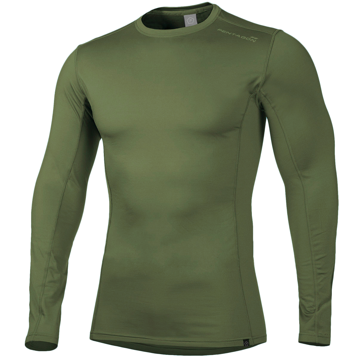 PENTAGON PINDOS 2.0 OLIVE GREEN HYPER ACTIVE THERMAL SWEATER BASE LAYER TOP