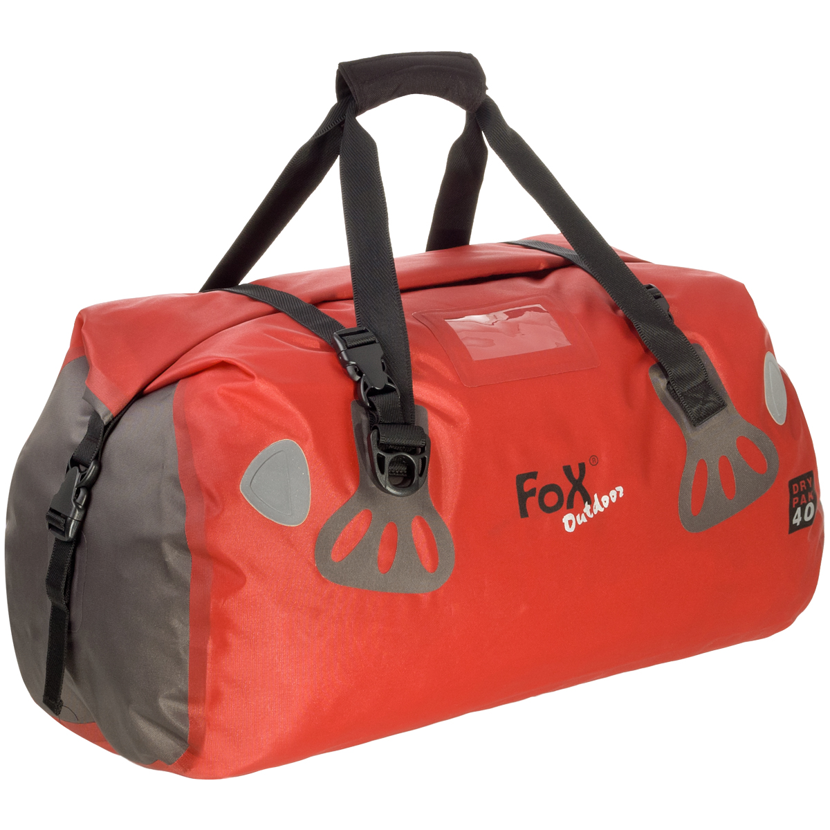 Waterproof Duffle Bags >> Details About Fox Outdoor Waterproof Duffle Bag Dry Pak 40 Kayak Boat Sailing Roll Pack Red