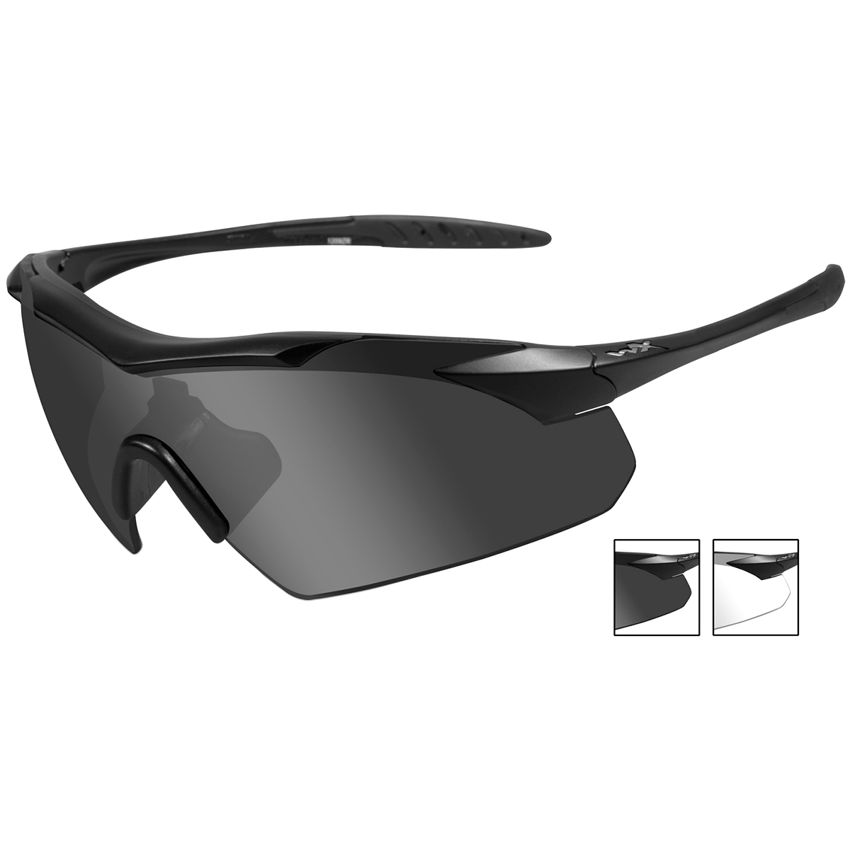 587eee8448 Details about Wiley X Wx Vapor Glasses 2 Spare Anti Fog Lenses Low Profile  Matte Black Frame