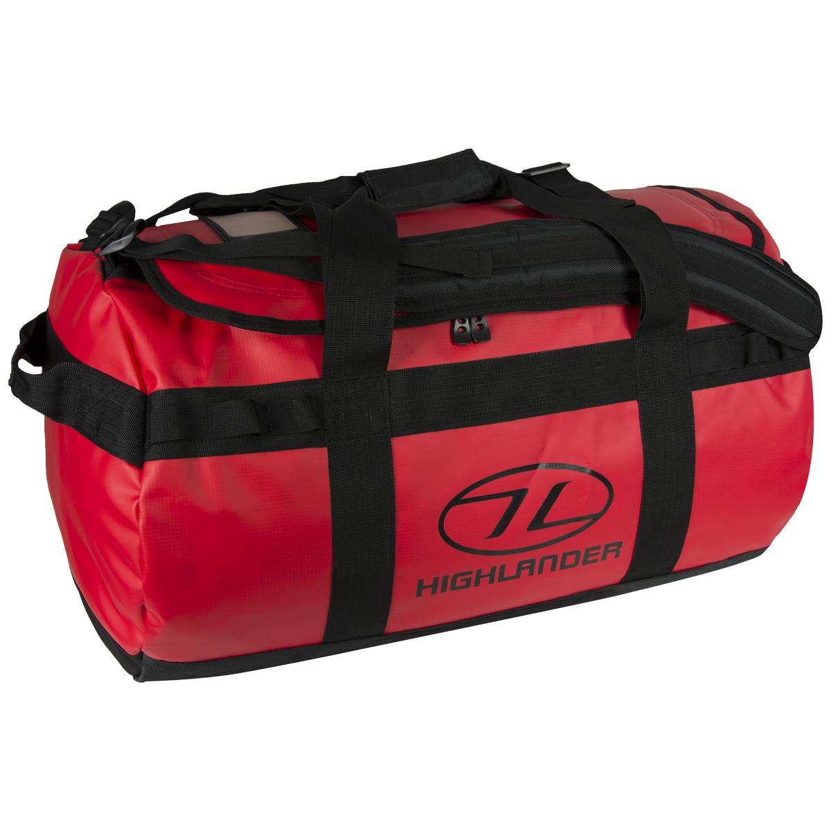 Details about Highlander Lomond Tarpaulin Duffle 65L Tough Durable Heavy  Duty Holdall Bag Red c2aef2264c408