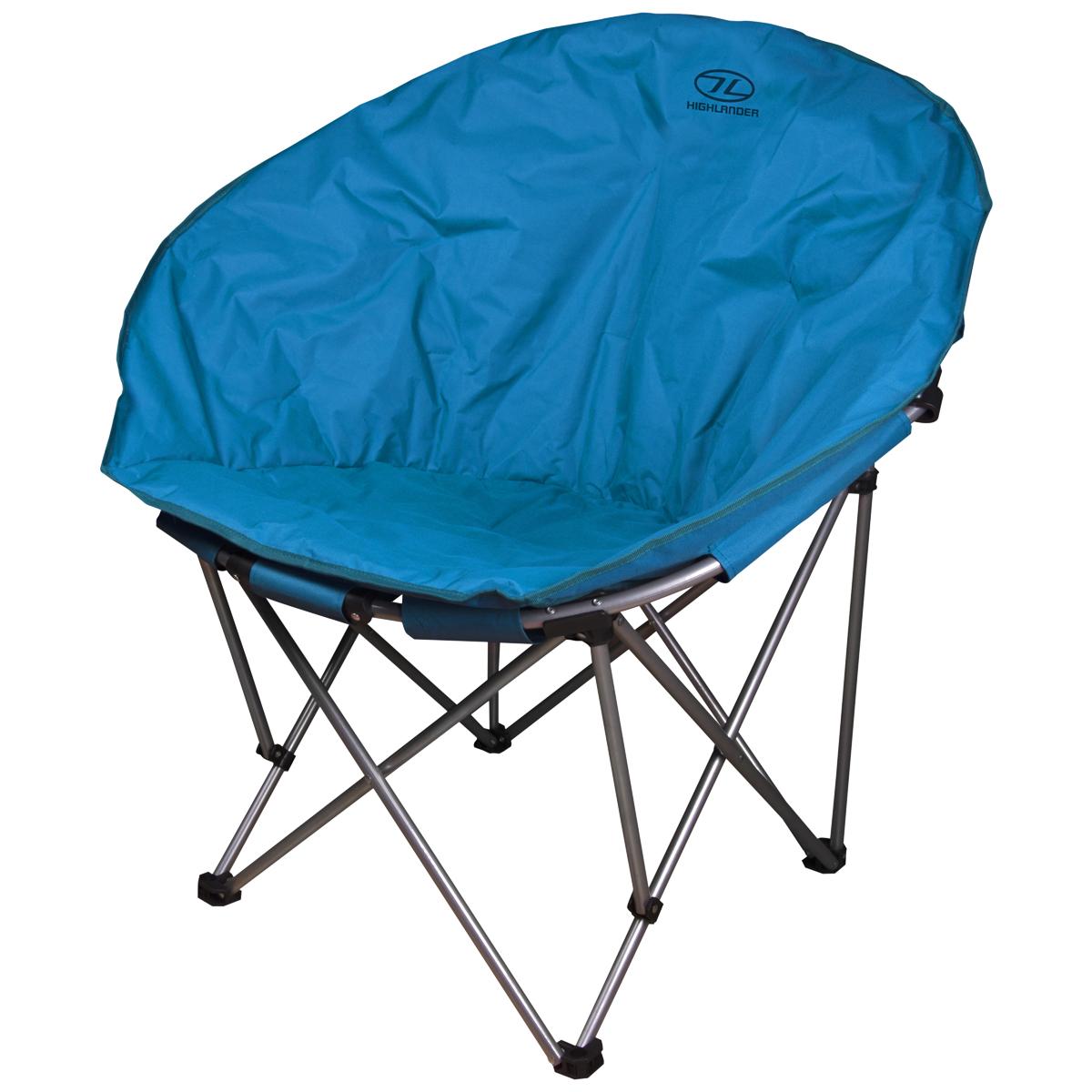 Pesca Asiento Plegable Denim Camping Jardín Detalles Blue De Dril Moon Highlander Silla gf7yb6