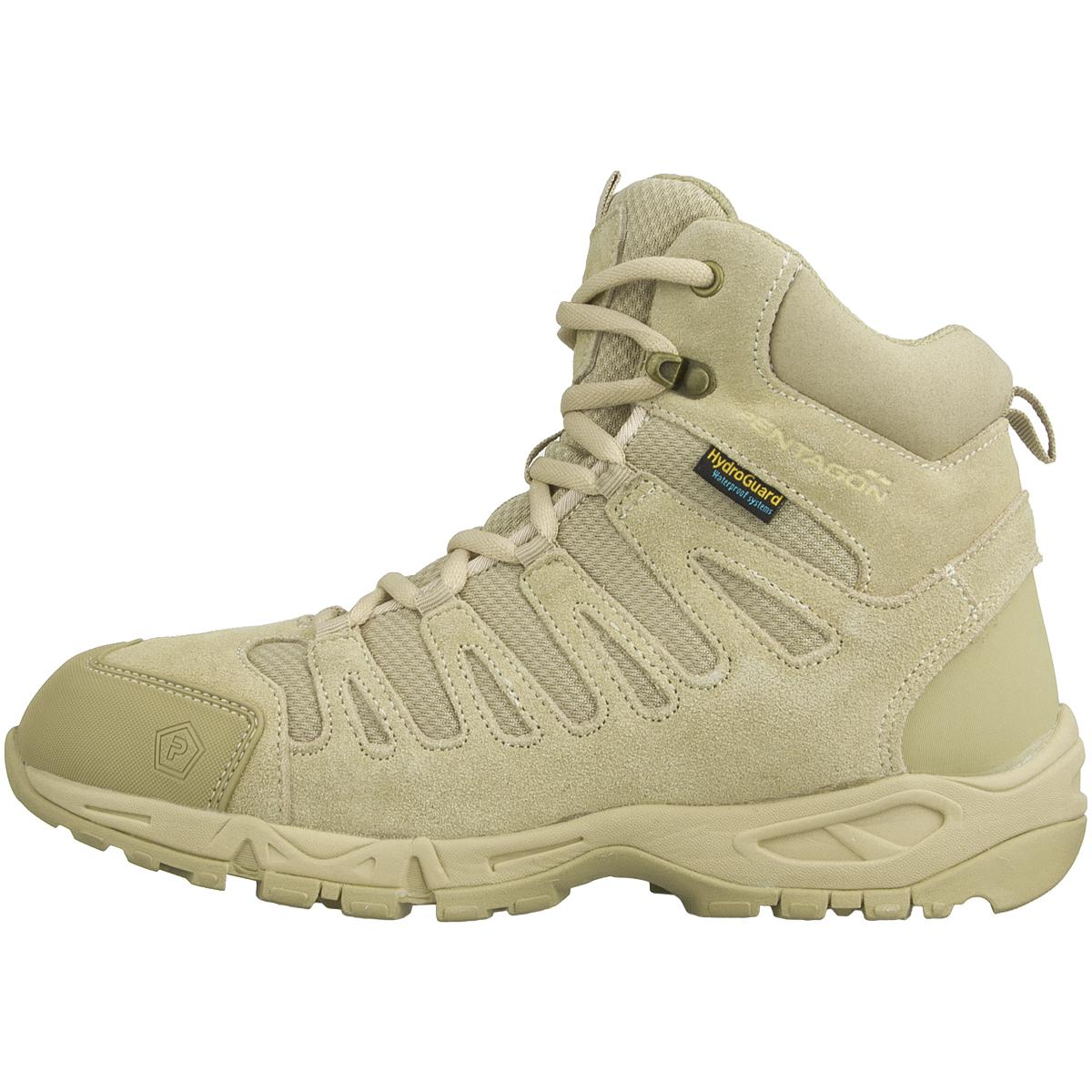"Pentagon Achilles 6/"" Trekking Boots Tactical Army Hunting Footwear Desert Tan"