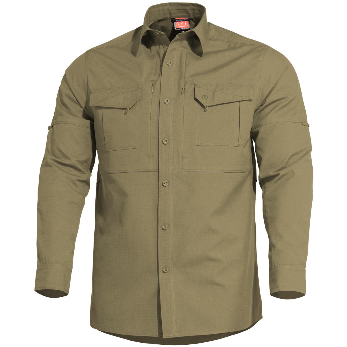 Pentagon Plato Tactical Shirt Mens Long Sleeve Work Special Ops Security Coyote
