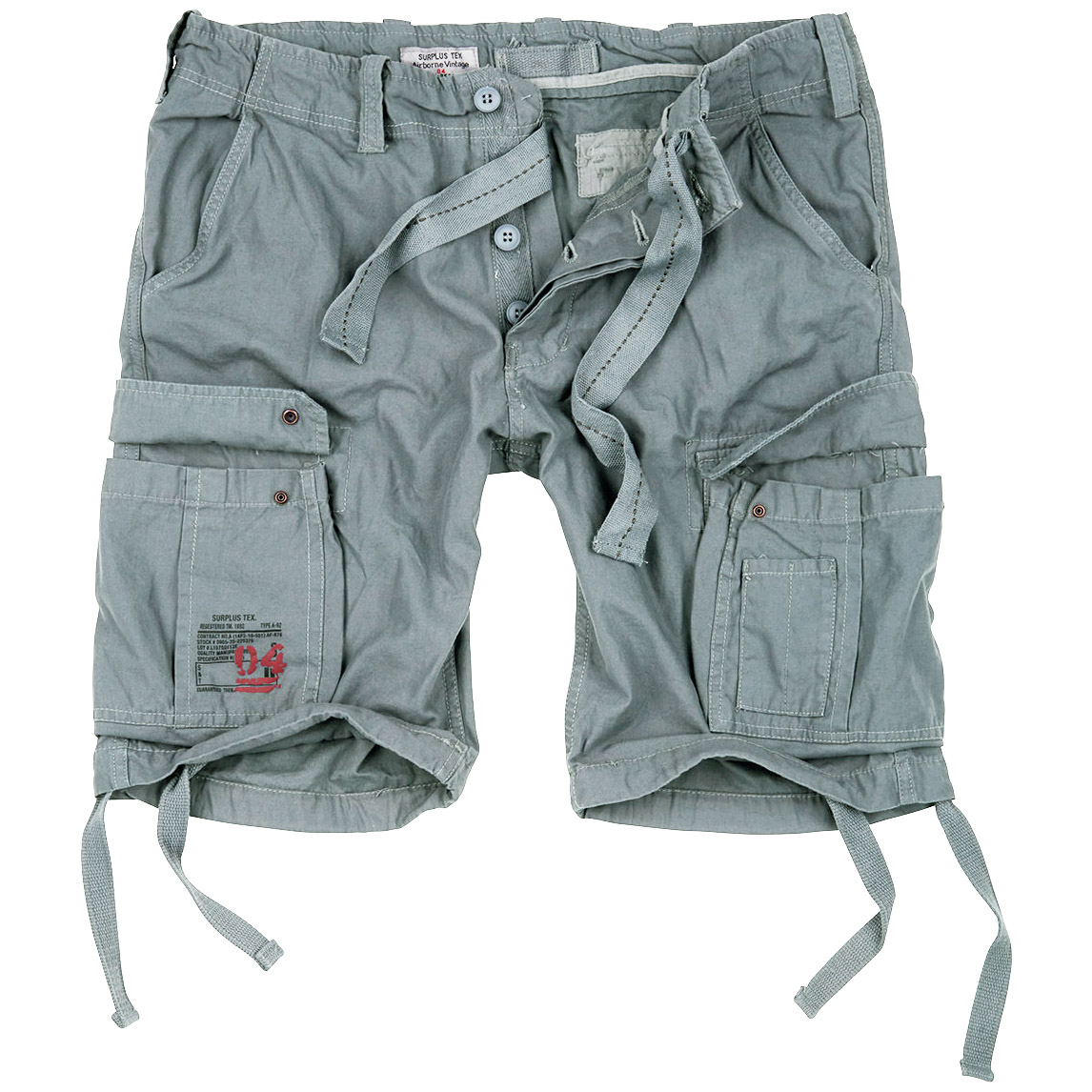 SURPLUS VINTAGE CARGO SHORTS MENS ARMY STYLE COMBAT WASHED COTTON FISHING PANTS