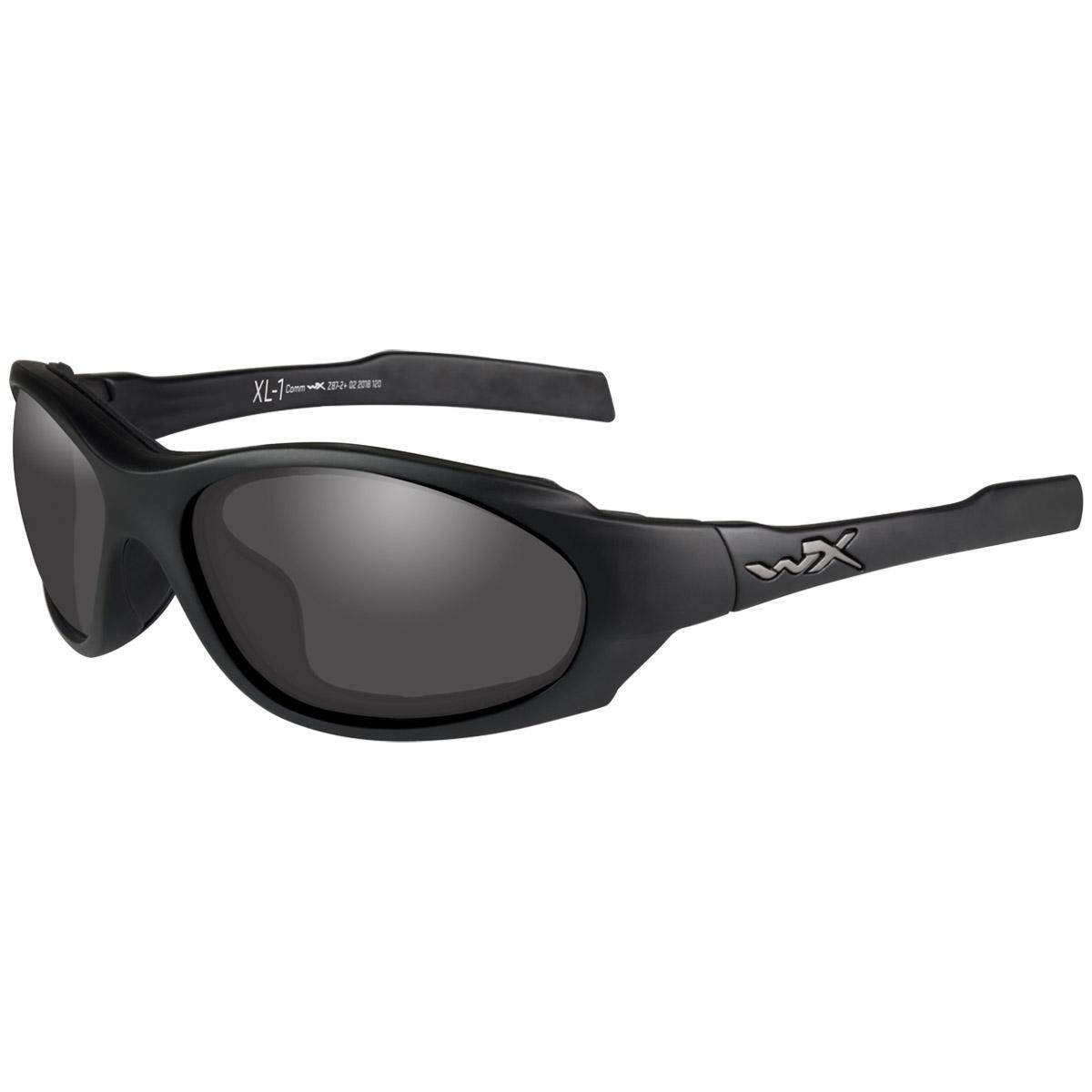 Wiley X XL-1 Advanced COMM Sunglasses with 3 Ballistic Lenses Matte Black Frame