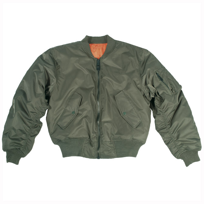 Army Ma1 Pilot Combat Flight Military Style Mens Cadet Bomber Jacket Olive S 3xl Ebay