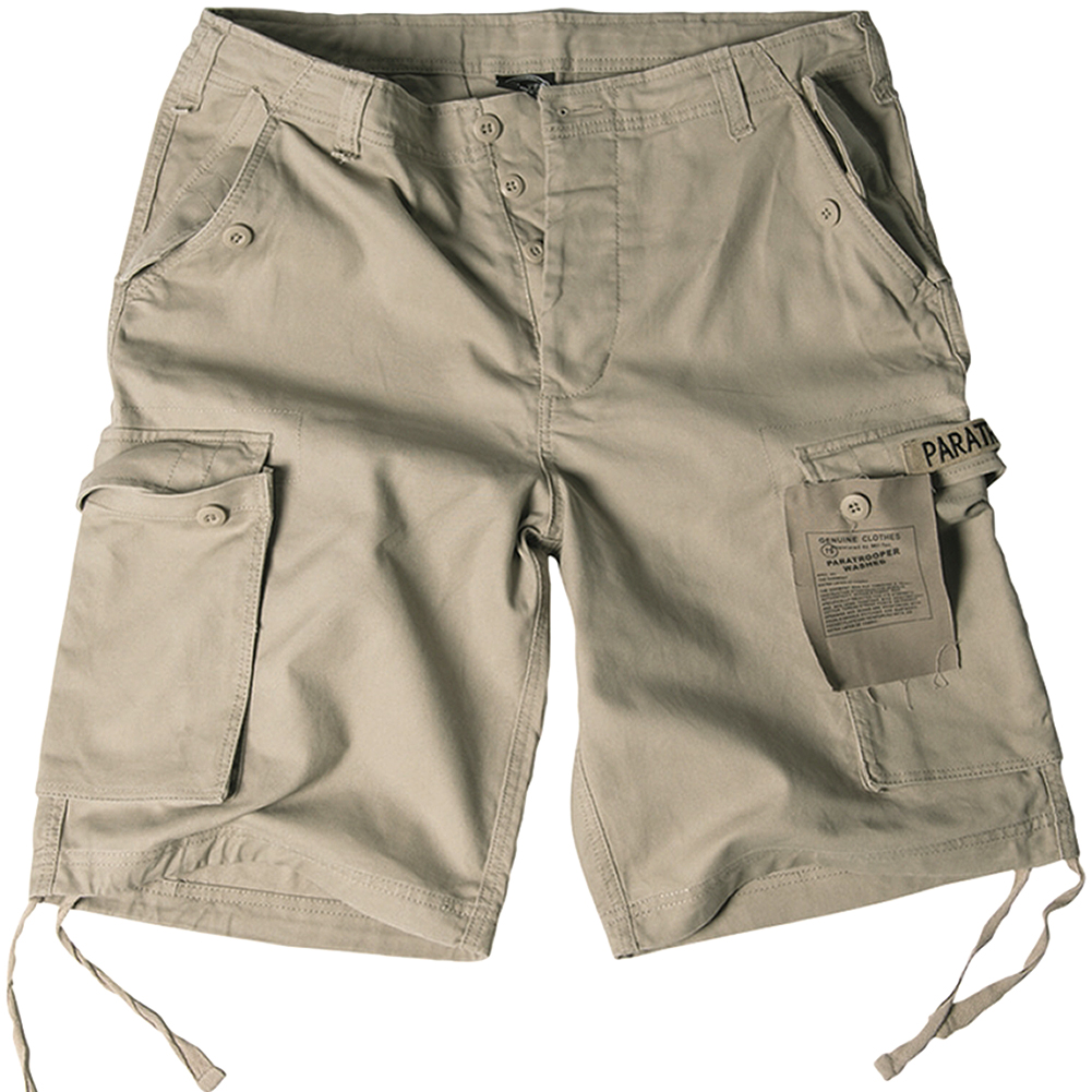 a9cced963d Details about Paratrooper Combat Army Military Style Work Mens Shorts  Prewashed Khaki : S-XXL