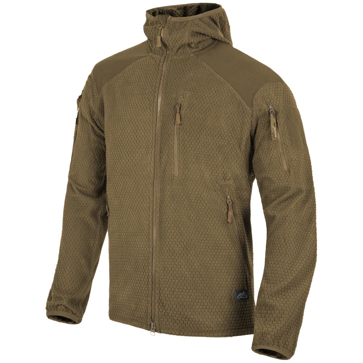 Helikon Mens Alpha Tactical Jacket Grid Fleece Foliage Green