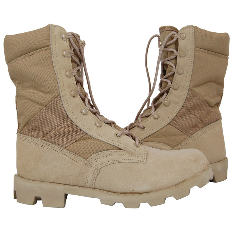Details about US Army Desert Combat Jungle Patrol Mens Boots Tan Suede  Leather Khaki 6-13 198a1da6c9e