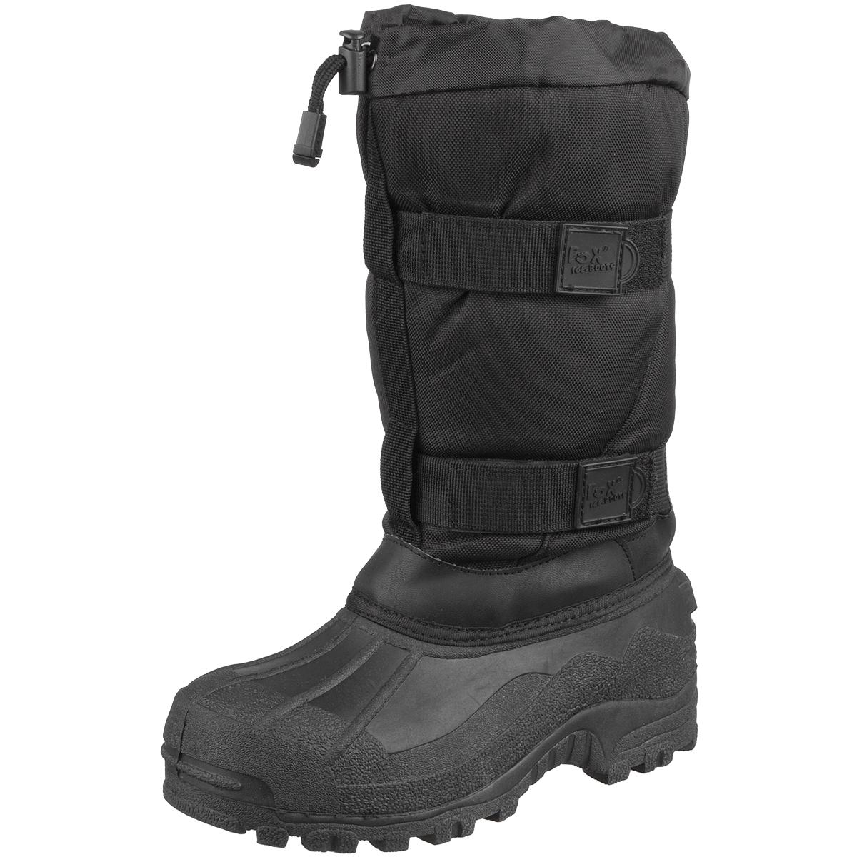 kanadischen winter schnee eis stiefel nass extreme k lte schutz schwarz uk 3 13 ebay. Black Bedroom Furniture Sets. Home Design Ideas