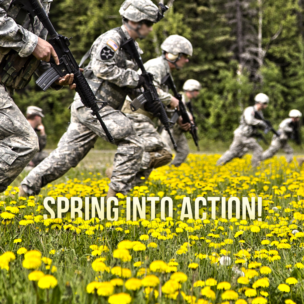 Spring into action with Military 1st!