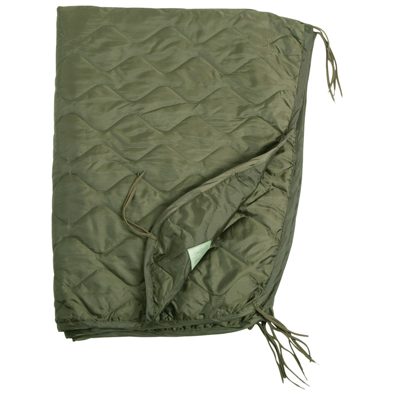 Sentinel Us Army Poncho Liner Quilted Travel Car Gi Blanket Sleeping Bag Ripstop Od Olive