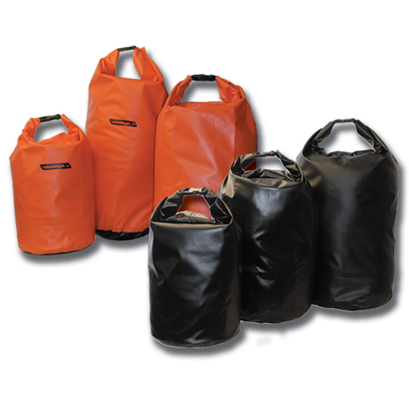 SMALL DRY BAG TRI LAMINATE PVC HIGHLANDER 15L WATERPROOF CANOE KAYAK KIT BLACK
