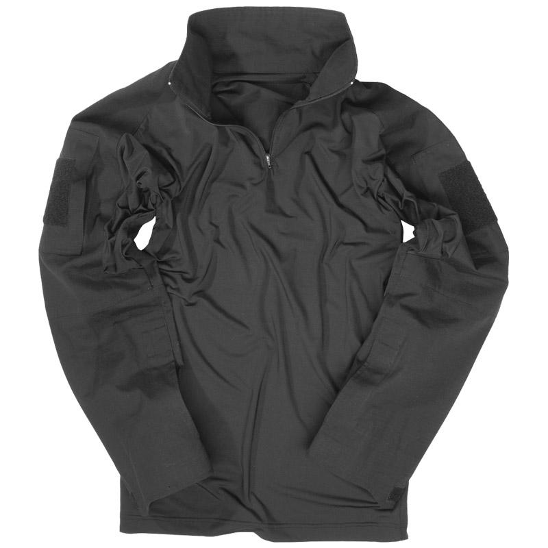 Patrulla-Militar-Ubacs-Hombres-Seguridad-Tactica-De-Combate-Camisa-Negra-Airsoft