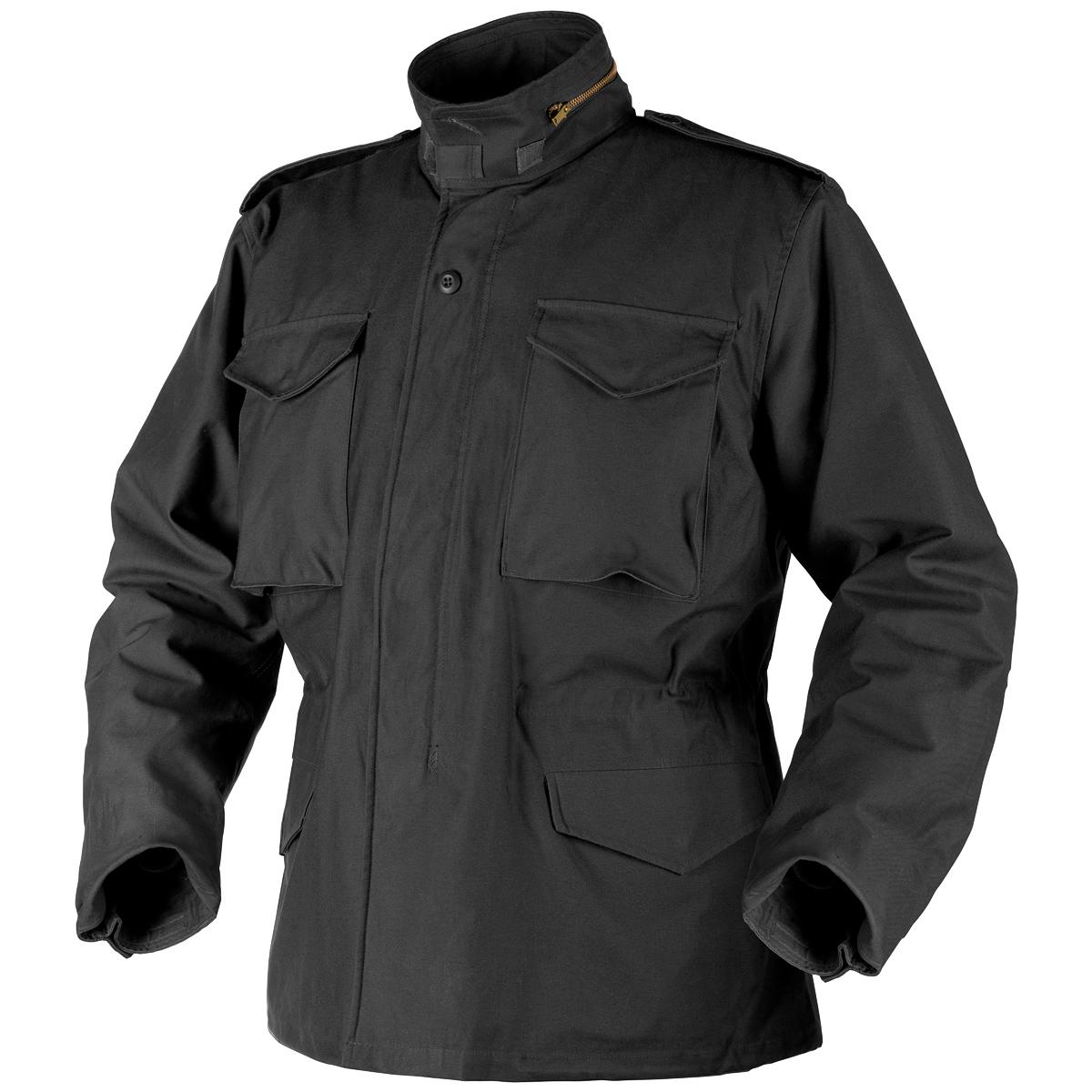 Helikon Genuine M65 Army Field Jacket Military Hooded Coat Original Black S-3XL | EBay