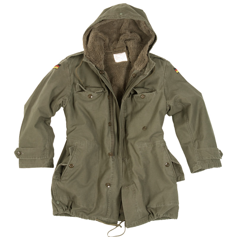 German Army Parka With Liner Olive Parka Military 1st