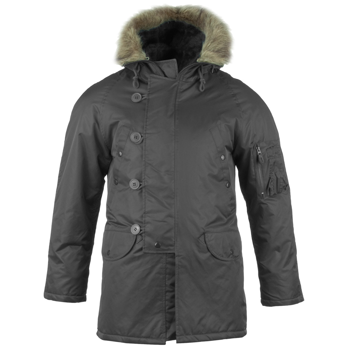 Air Forces N3B N-3B Pilot Snorkel Parka Long Military Winter ...