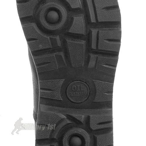 Ejército velocidad Lace cuero negro cadete modelo Militar combate Hi-pierna botas 5 7yeNg4