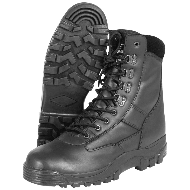 Sentinel Combat Mens Patrol Security Tactical Mil-Com Army Police Boots All  Leather Black 493192b75