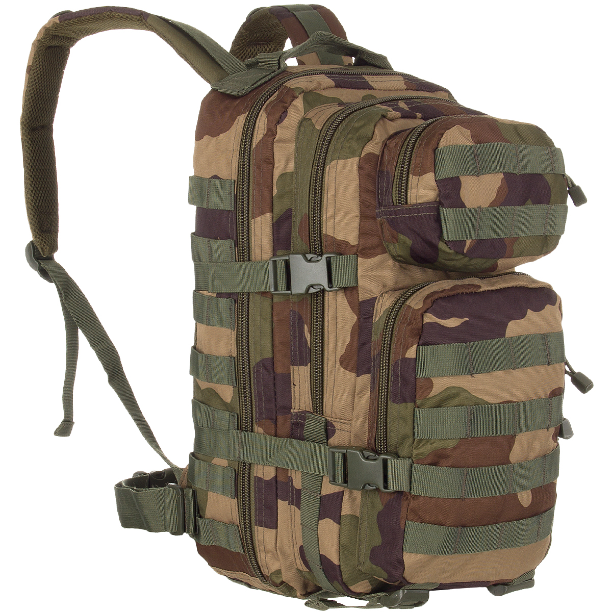 Tactical Backpack Assault Pack MOLLE System Rucksack 20L Hiking French CCE Camo