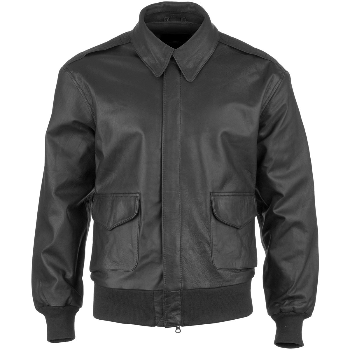US Military Classic Pilot Bomber A2 Flight Leather Mens Short ...