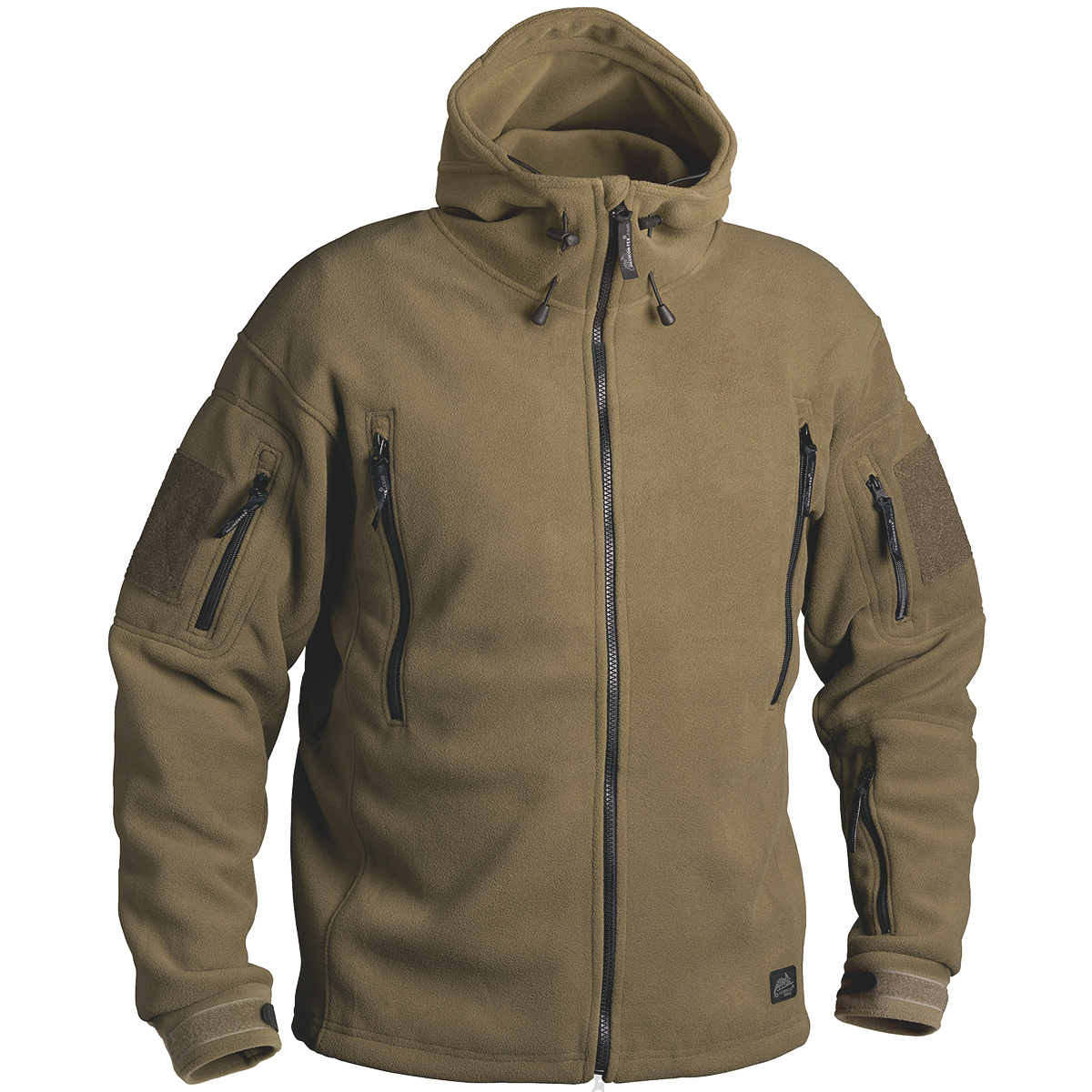 Details about HELIKON TACTICAL PATRIOT MENS HOODED FLEECE ARMY POLAR JACKET  COYOTE TAN S-XXL 8103ebe90d6