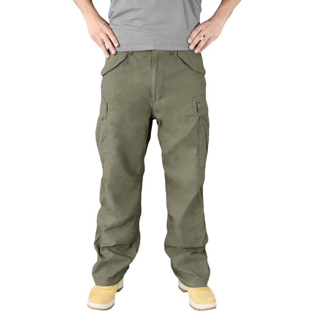 Army Premium Vintage Trousers Mens Combats Cargo Work Surplus Pants Black XS-7XL