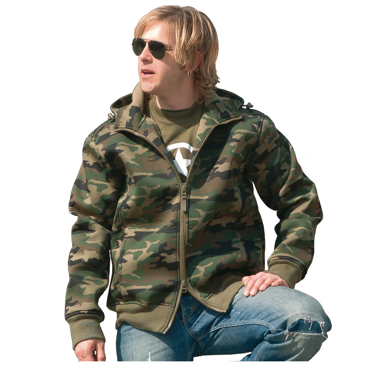 Army Windproof Neoprene Mens Thermal Jacket Hooded Fleece