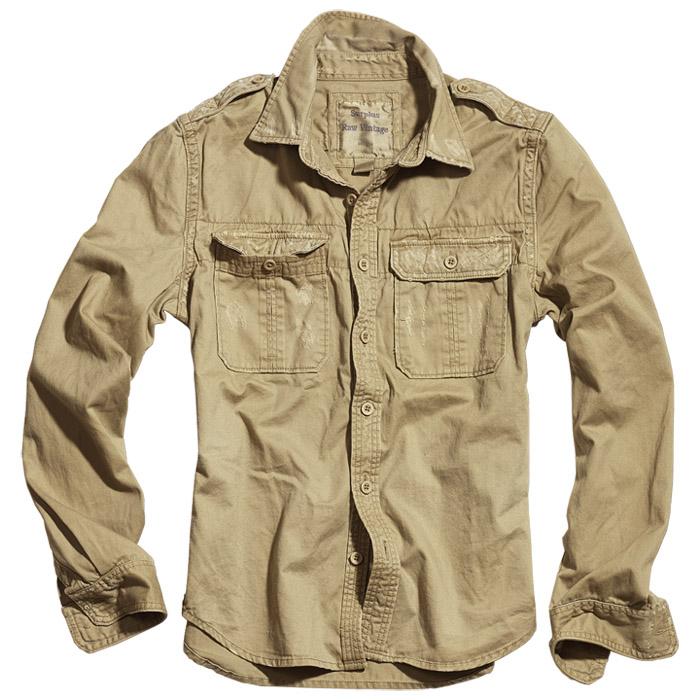 Surplus Army Raw Vintage Mens Shirt Long Sleeve Vintage
