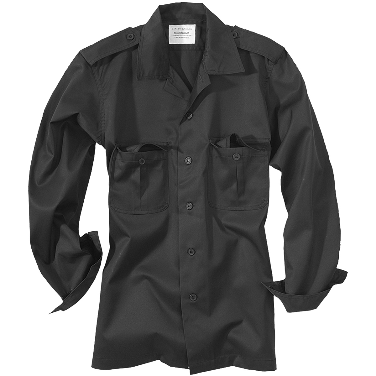 281c8dd7acb Details about Surplus Security Guard Tactical Mens Work Shirt Long-Sleeve  Fishing Black S-XXL