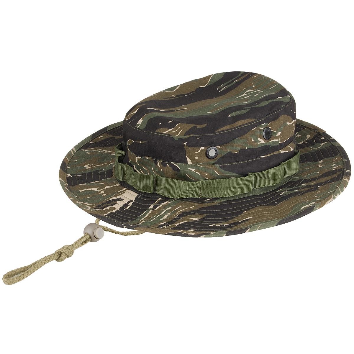 Details about Vietnam Army Style Boonie Bush Camouflage Jungle Sun Hat Cap  Tiger Stripe Camo 9b832ae20cd
