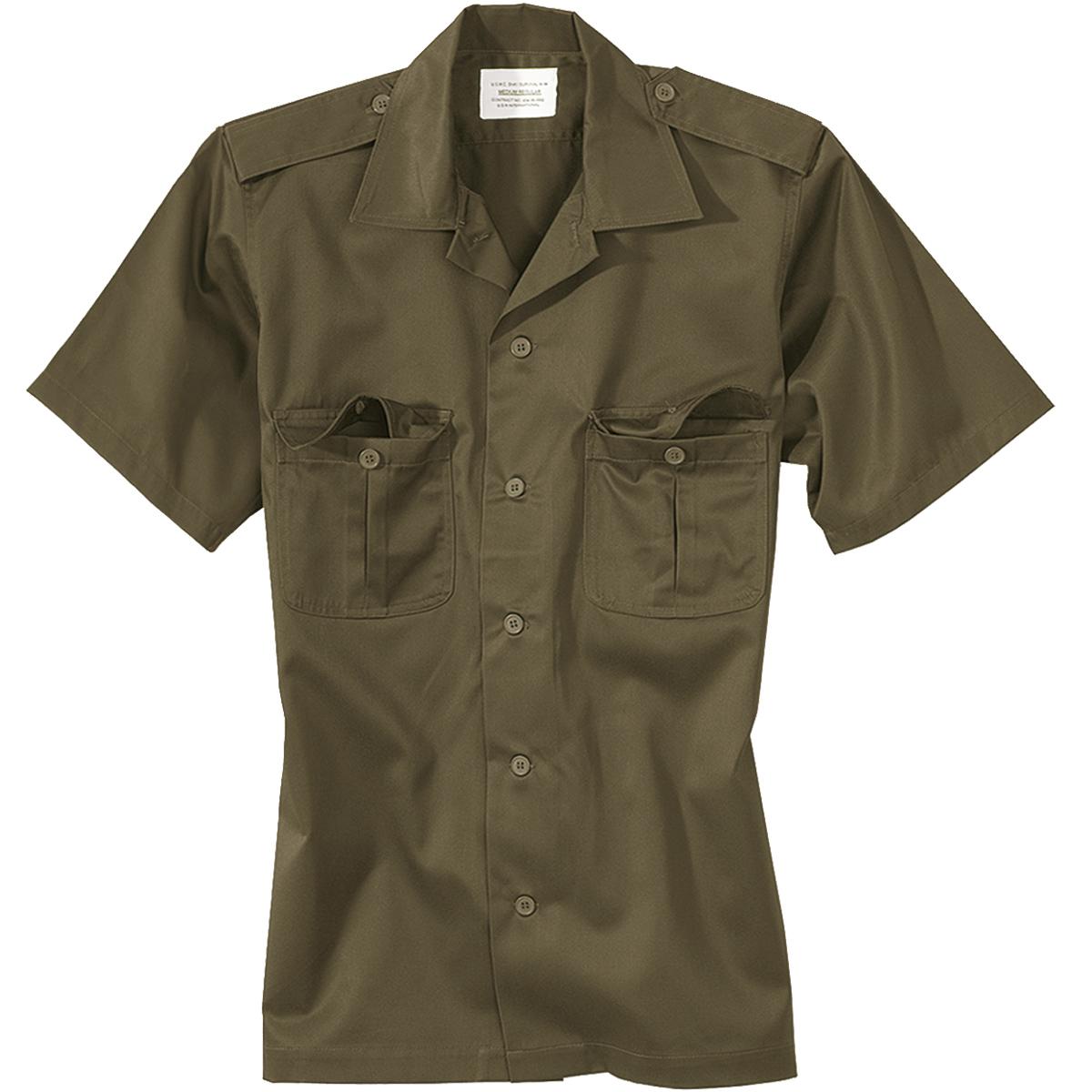 Surplus US Tactical Short Sleeve Mens Shirt Military Security Guard ...