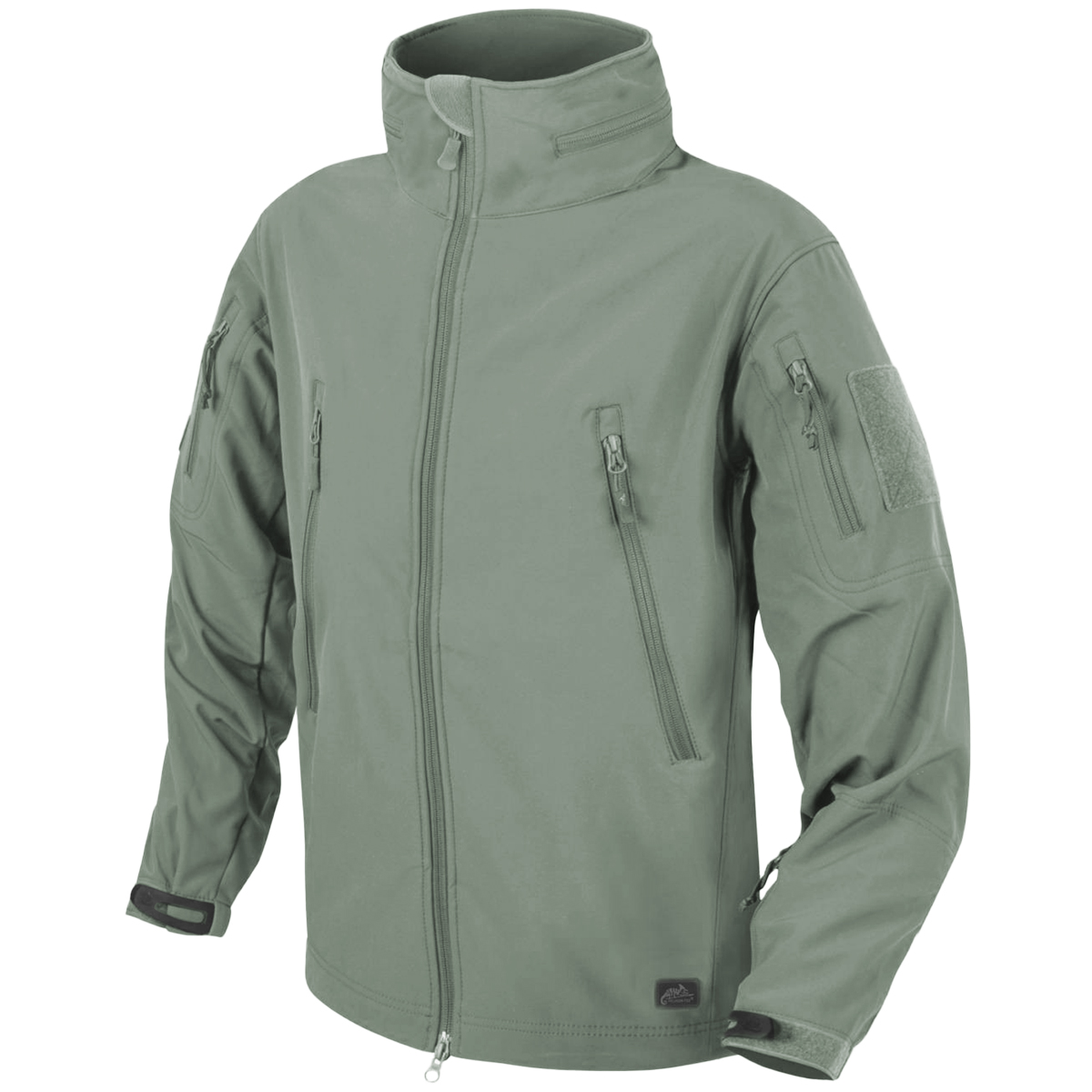 HELIKON GUNFIGHTER TACTICAL WINDPROOF SOFT SHELL MENS HOODED JACKET FOLIAGE GREY