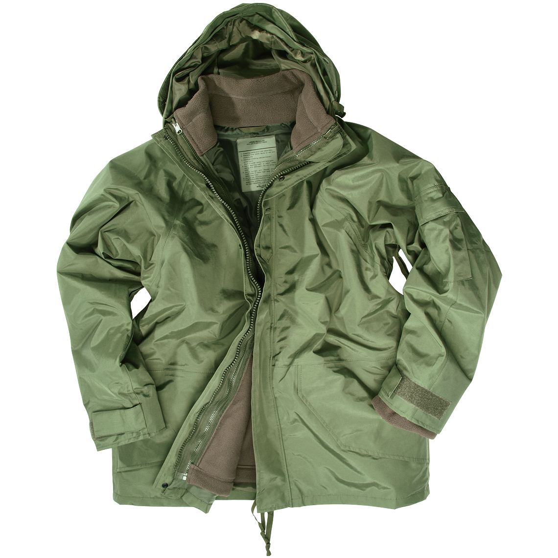 Army Waterproof Parka Military ECWCS Hooded Jacket with Fleece ...