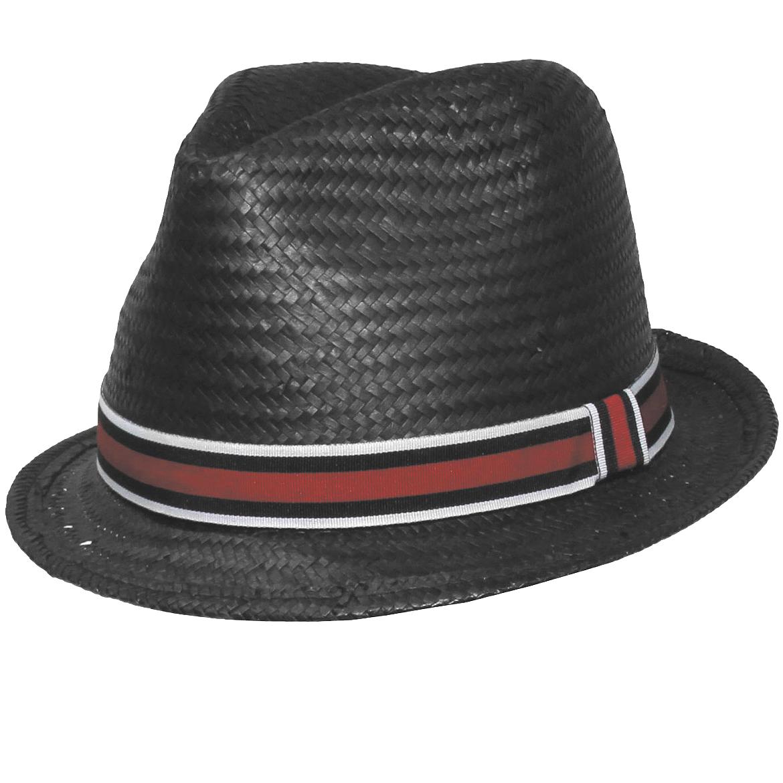 Sentinel Classic Black Players Trilby Panama Sun Hat Stylish Fedora Thin  Brim Red Ribbon cf872edf8e9